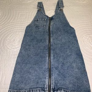 Pacsun jean zip up dress